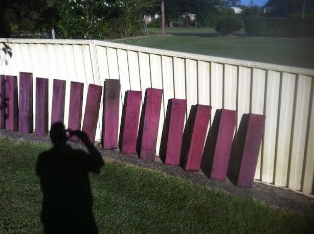 purple wood stain