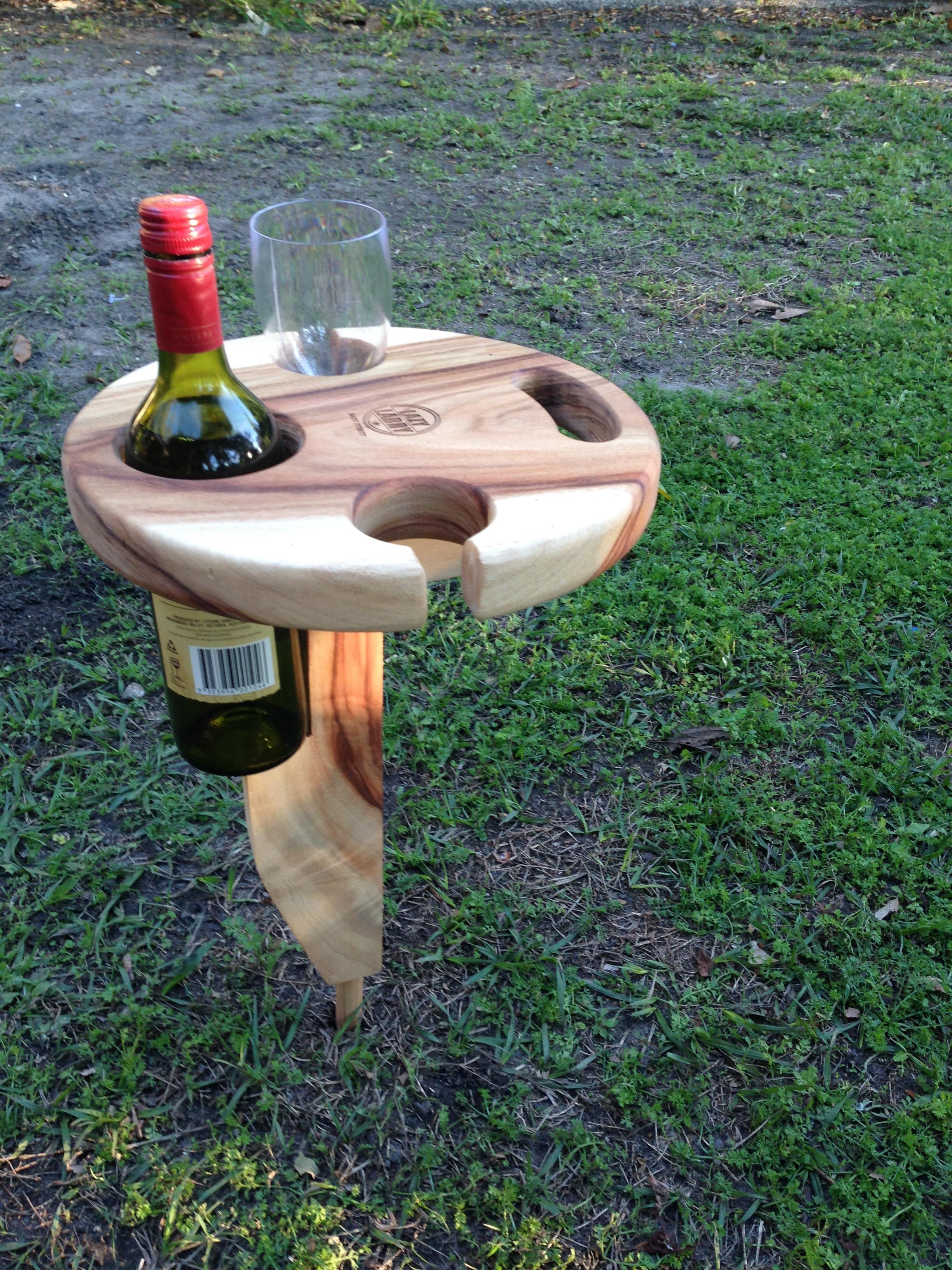 picnic wine table lazy larry 39 s workshop. Black Bedroom Furniture Sets. Home Design Ideas